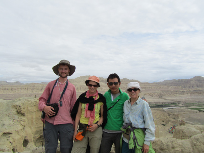 Sonam and guests at Gugue-West Tibet